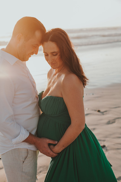 sunset maternity shoot