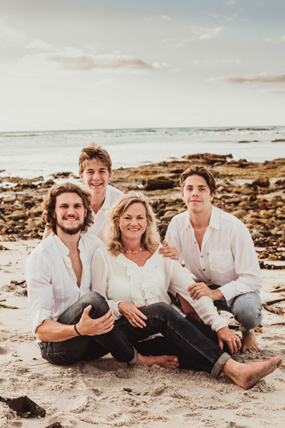 family photo beach Kommetjie cape town