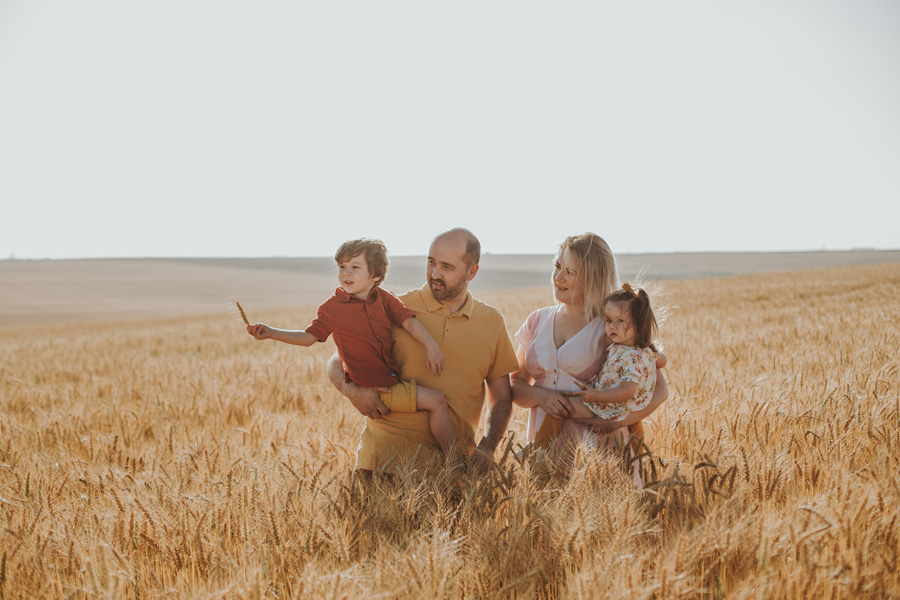 Family Photo Shoot Wheat Field Cape Town
