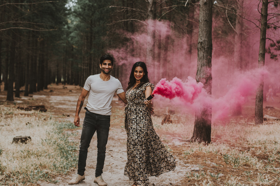 Gender Reveal smoke bomb Cape Town