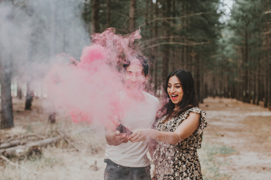 Cape Town Gender Reveal smoke bomb